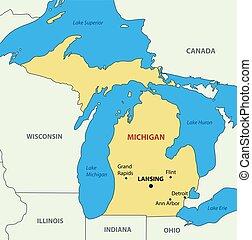 Michigan - vector map