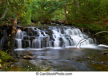 Michigan Waterfall  Mosquito Falls
