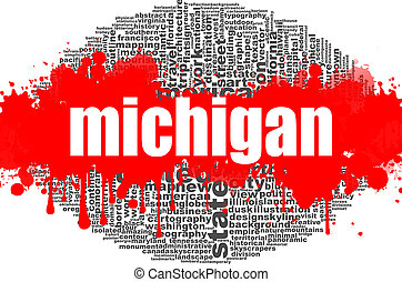 Michigan word cloud design