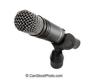 micrófono, aislado, blanco