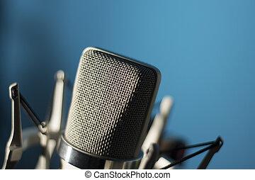 micrófono, audio, vocal, estudio de grabación, voz
