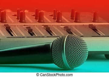 micrófono, batidora