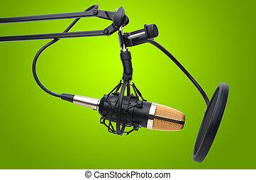 micrófono de radio, condensador