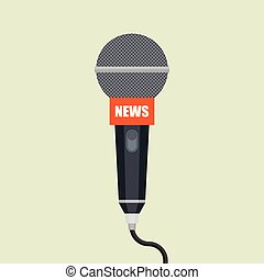 micrófono, icon., interview.