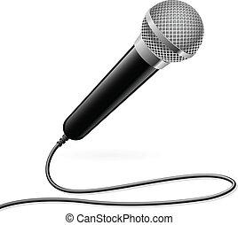 micrófono, para, karaoke