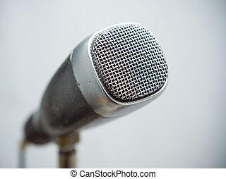 micrófono, retro