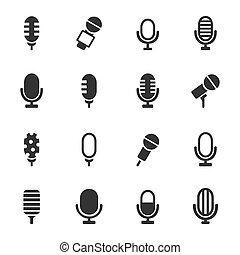 micrófono, un, icono
