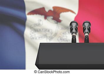 micrófonos, iowa, estados unidos de américa, estado, -, dos ...