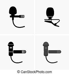 micrófonos, solapa