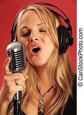 micriophone, studio, oud, het zingen