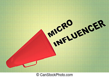 micro, concetto, influencer