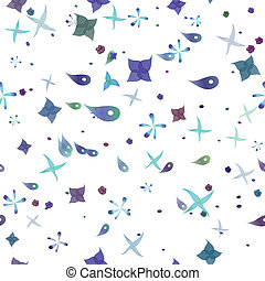 plankton seamless pattern vector