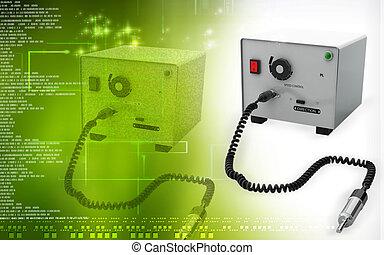 Micro motor dental equipment - Digital illustration of Micro...