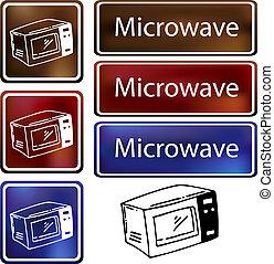 micro ondes, nuage, icône