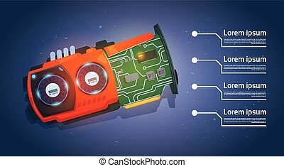 Micro Processor Computer Chip Motherboard System Banner With...