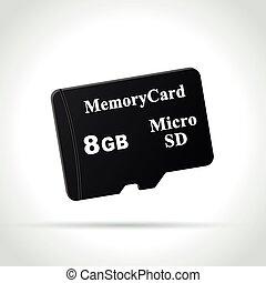 micro sd card icon - Illustration of micro sd card icon on...