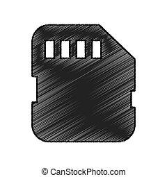 micro sd card isolated icon vector illustration design
