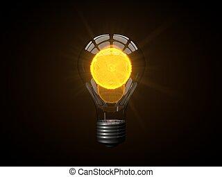 micro sun powered lamp