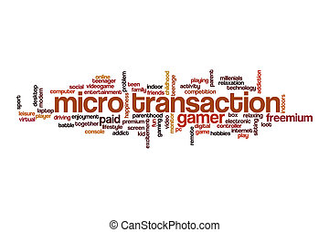 Micro transaction word cloud concept