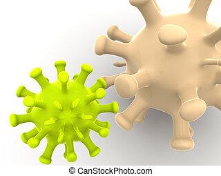 microbe. 3d