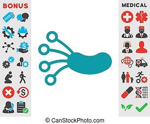 microbe, infectie, pictogram