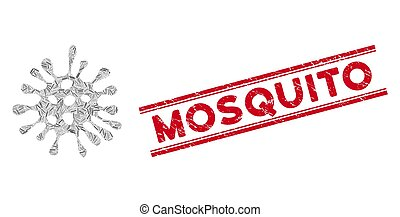 Microbe Line Mosaic and Scratched Mosquito Seal
