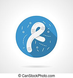 Microbiology icon round blue vector icon