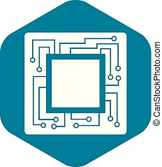 Microchip icon simple