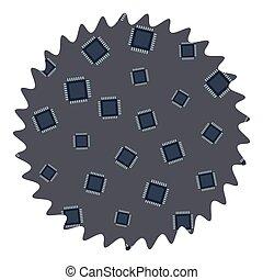 Microchip round label