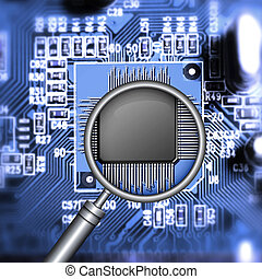 microchip searching - motherboard with microchip and...