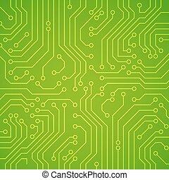 microchip., vecteur, planche, circuit, ou
