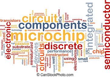 Microchip word cloud