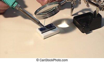 microcontroller soldering process