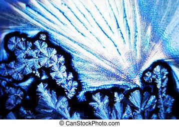 microcrystals, de, acide ascorbique, dans, lumière polarisée