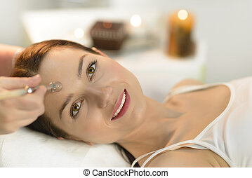 Microdermabrasion at Beauty Salon - Beautiful woman getting...
