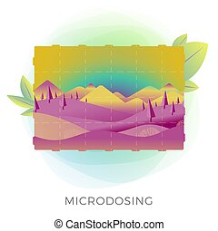 Microdosing concept illustration - taking ultra-low doses of...
