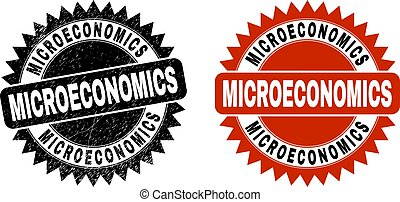MICROECONOMICS Black Rosette Stamp with Rubber Style