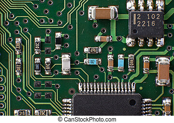 Microelectronic circiut - Detail of microelectronic circuit...