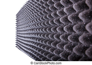 microfiber, aislamiento, para, ruido, en, estudio de la música, o, acústico, vestíbulo
