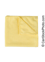 Microfiber cleaning towel over white background