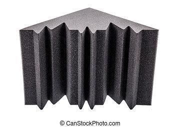 microfiber, espuma, isolação, para, barulho, em, a, cantos,...