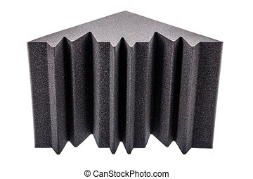 microfiber foam insulation for noise in the corners of the music studio or acoustic halls, rooms or houses