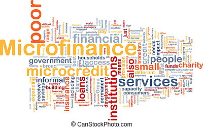 Microfinance background concept