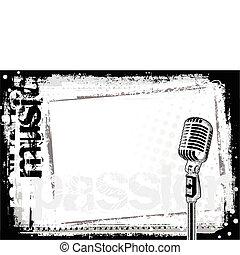 microfone, 2, fundo