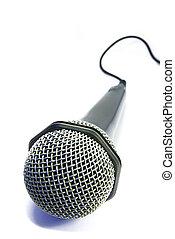 microfone, 2, isolado