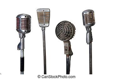 microfone, antigas, cobrança