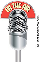 microfone, ar