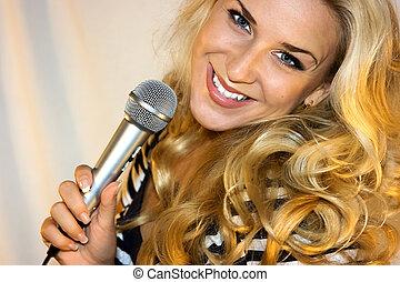 microfone, beleza