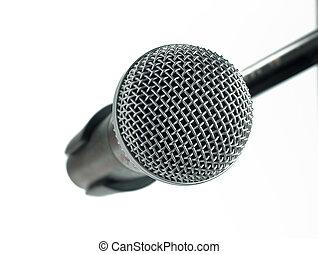 microfone, branco, fundo