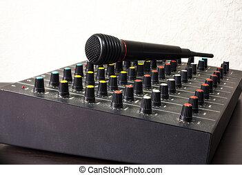 microfone, dj, misturador